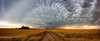 """Fields of Gold"" <br><br> North West Oklahoma<br><br> Technical Details: Shot with Canon 5d mk2 and Canon 24-70mm lens at F10 and 1/8.    Panorama created from 10  vertical shots."