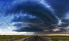 """""""Montana Sunset Supercell"""" <br><br> Malta, MT <br><br> I grew up in Montana.  For a long time I have had a dream of being able to chase a beautiful storm through the Montana praries.  On this particular day we had just arrived in Chinook, MT after 2 days of solid driving up from TX.  Storms fired just about right over my head in Chinook and I followed them East up towards the Canadian border.  As the late evening sun was finally starting to go down I moved into position to capture this beautiful scene. <br><br> Technical Details: Shot with Canon 5d MK2 and Canon 24-70mm lens at F16 and 1/30  seconds."""