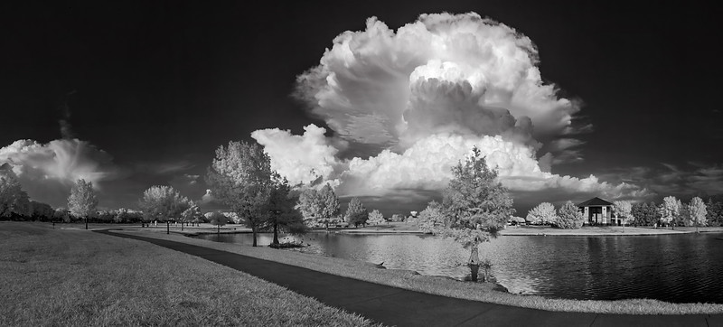 """Infrared Magic"" <br><br> Allen, TX <br><br> Technical Details: Shot with Infrared Canon 10D and Canon 20mm lens at F22 and 1/20 seconds."