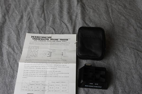 Nikkor 35mm and 80mm Underwater Frame Finder