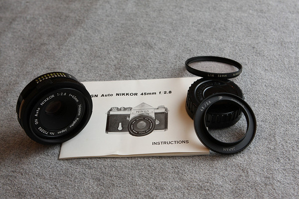 Nikkor GN Auto 45 mm 2.8 Lens