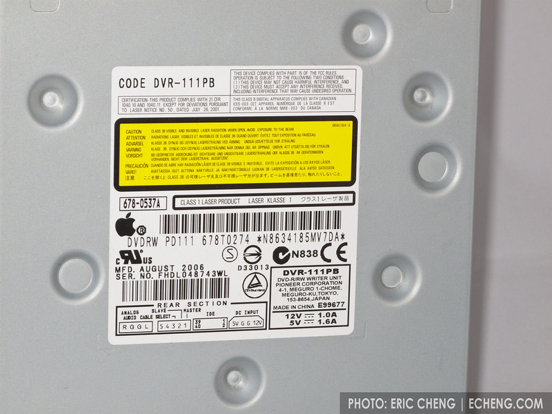 Apple Superdrive details