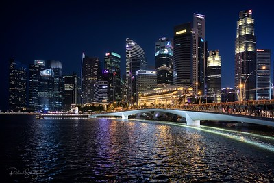 Downtown Singapore at Dusk