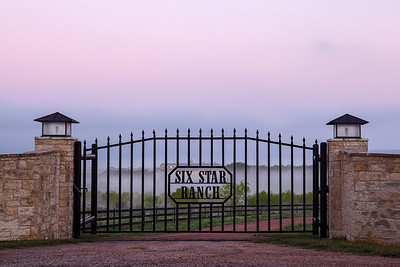 """""""Six Star Ranch""""  Prairie Mountain, TX This area is located deep in Central Texas near the town of Prairie Mountain.  On this particular morning the fog lifted just enough to allow the sunrise to filter through and create some incredible pastel scenery. Technical Details: Shot with Canon 5d MK2 and Canon 24-70mm lens."""