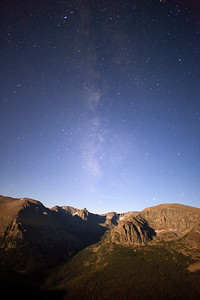 """""""Trail Ridge Road""""  Rocky Mountain National Park, CO  It's amazing how much detail modern cameras can capture when the full moon is out!  In this shot, the moon was rising over my left shoulder, illuminating the scenery in a beautiful light.  The stars were amazing due to the lack of clouds, adding to the scene.  Technical Details: Shot with Canon 5D Mk2 and Canon 20mm lens at F2.8, 20 seconds and ISO 3200."""