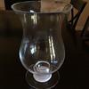 Glass Hurricane Vase - $10