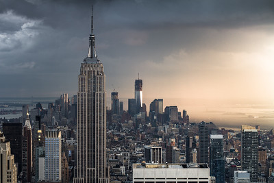 Empire State Building and the World Trade Center