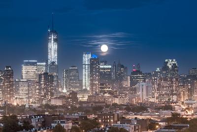 2013 Supermoon Over the World Trade Center