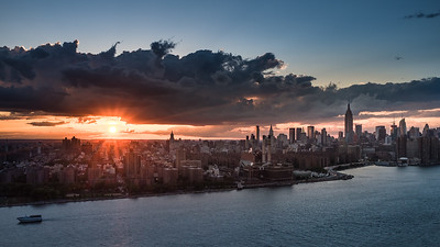 Sunset over Midtown as seen from Williamsburg
