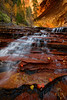 Archangel Falls, The Subway at Zion National Park, Utah, USA