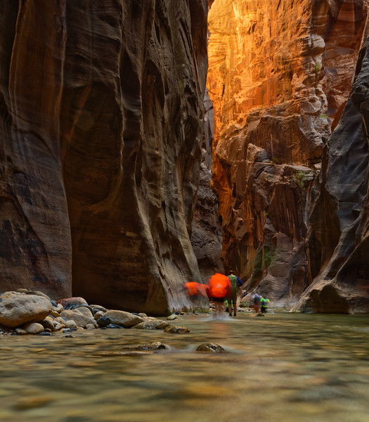Into the Narrows, Zion National Park, Utah