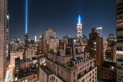 Tribute in Light 2016 (150 East 39th Street South West View)