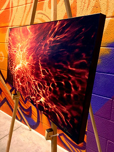 "$160...28""x 14""...8_104 Pano Painted Orange...canvas on masonite"