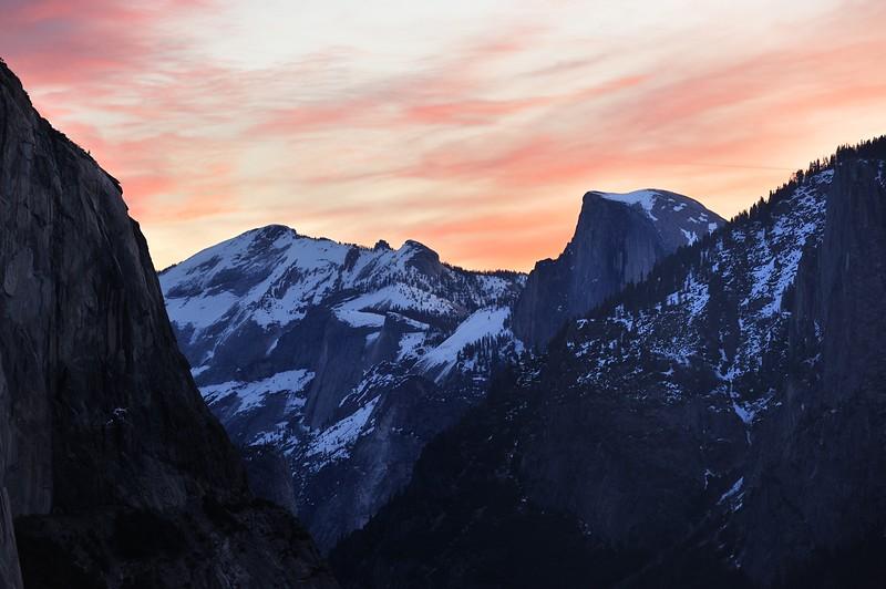 Sunrise over Half Dome, Yosemite National Park