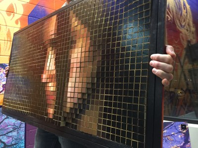 """$7,000...45""""x 23""""...3D Pixelation #1"""