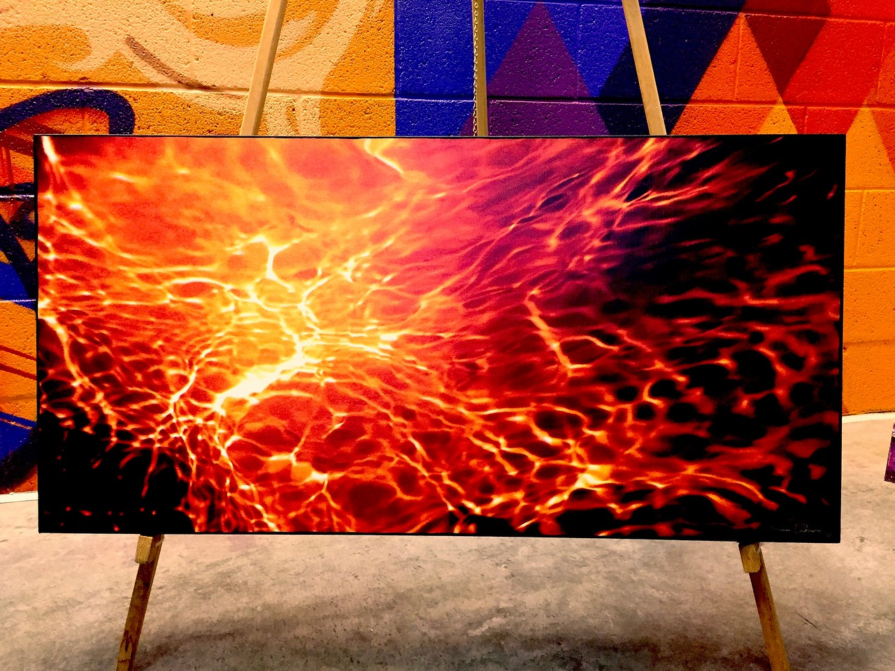 "$300...40""x 20""...8_104 Pano Painted Orange...canvas on masonite"