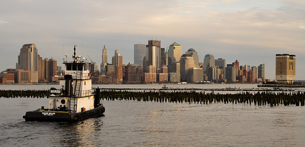 NYC - River View with Tug Boat