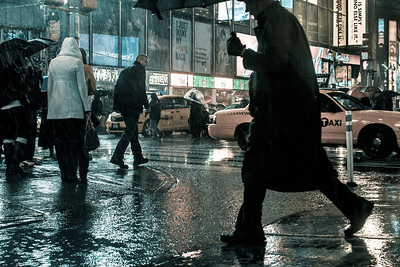 Pedestrians in the Rain