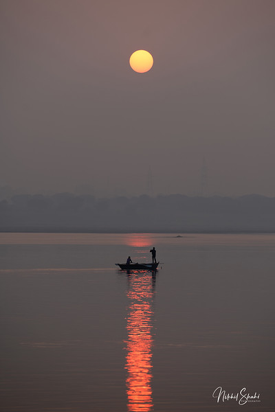 Sunrise over the Ganges, Varanasi, India