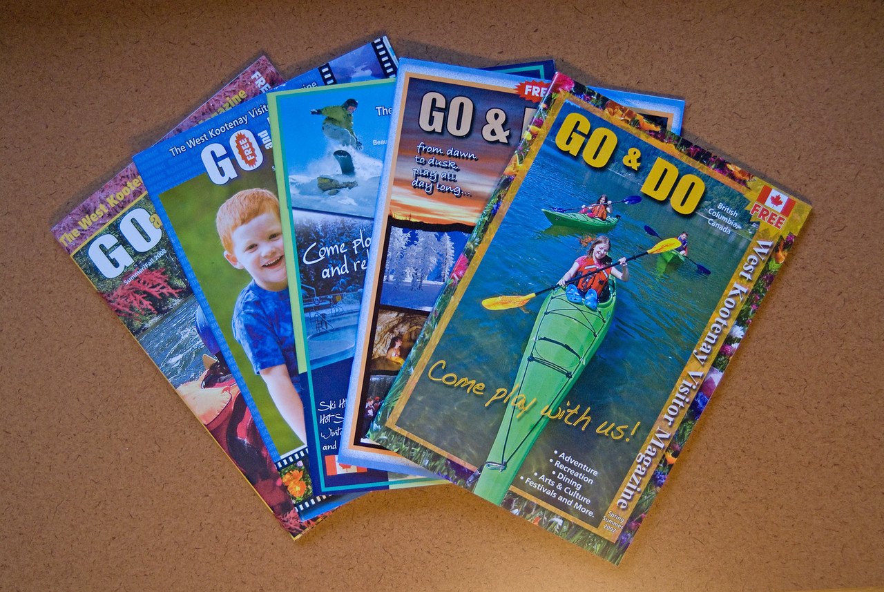 GO and DO MAGAZINE - We've been working with Phil Best Photography as one of our main suppliers of high quality, interesting and artistic photos for our West Kootenay Visitor Guide - GO & DO, Kaslo and Trail Visitor Magazines for the last 3 years.<br /> <br /> Phil is always prompt in handling our requests; has available a variety of resolution choices for each photograph and has an amazing selection of West Kootenay photos spanning all areas of life & culture for us to choose from. His prices are very reasonable - and he is a real pleasure to work with. We couldn't do it without him....thanks Phil!<br /> <br /> Karma Halleran<br /> West Kootenay Visitor Guide<br /> GO & DO Magazine