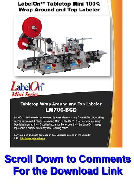 LabelOn™ Mini - Tamper Top (lid) and Round (body) Labeler