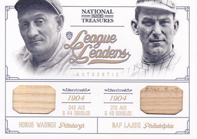 2012 Panini National Treasures Honus Wagner & Nap Lajoie