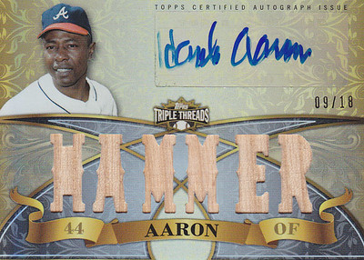 2013 Topps Triple Threads Hank Aaron