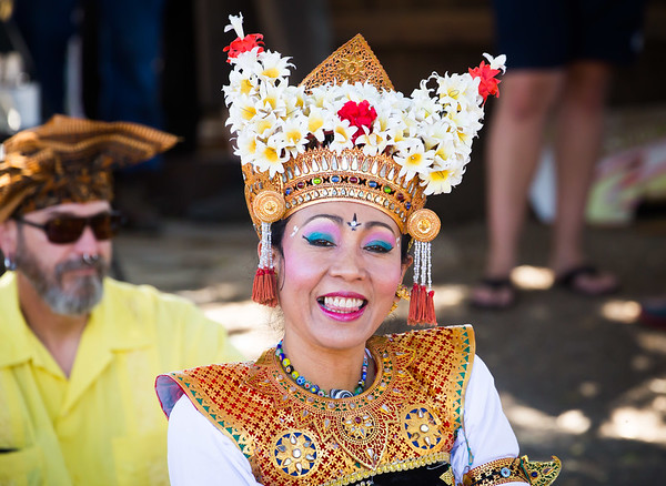 Balinese dancer at the 2017 ERH Art and Music Festival.
