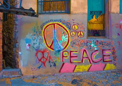 'Peace,' Bisbee, AZ 2017.
