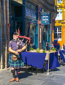 'Bella Bagpipes,' Edinburgh, Scotland, 2018