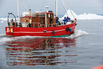 Red Ice Tour boat