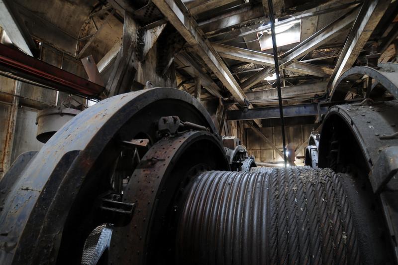 Large Winch in old dragline