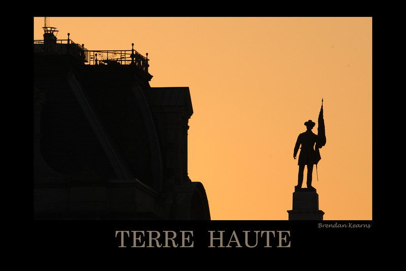 Soldier at Courthouse