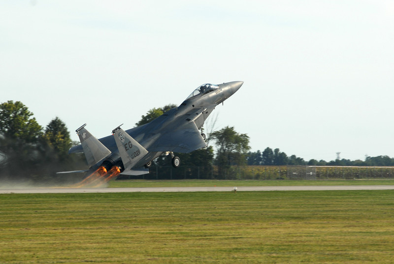 Fighter Jet at Take Off