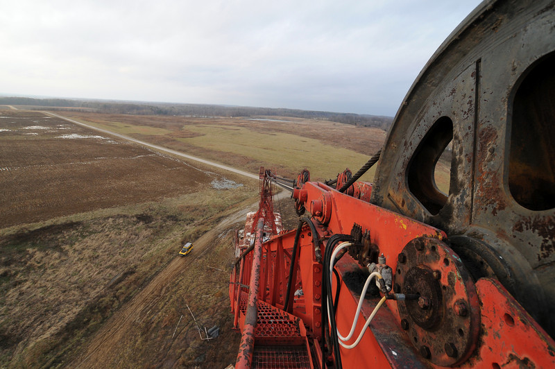 View from the top of dragline