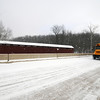 School Bus in Owen County on Snowy Day
