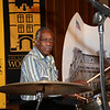 Just before the show began, a close up of Clyde Stubblefield at the drums !