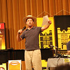 It is Showtime and within a minute when Michael put on the hat, the Amish influence has even gotten on to the Stage. The audience loved this opening Act. Michael soon placed hats on other showmembers.