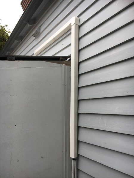 20180129 Outside AirCon Conduit Installed