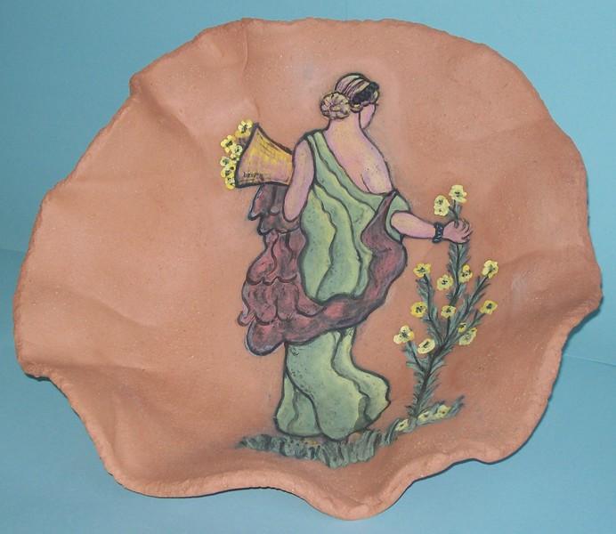 'Goddess in the Garden bowl' by Faye Bornstein