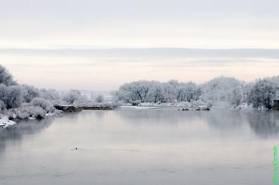 Platte River in the winter