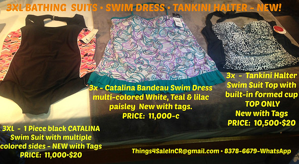 3XL CATALINA SWIMSUITS•SWIM DRESS•SWIMSUIT TOP
