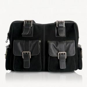 Jill-e Rolling Bag - Leather, Black - $240