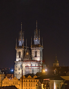 Church of Tyn at Night