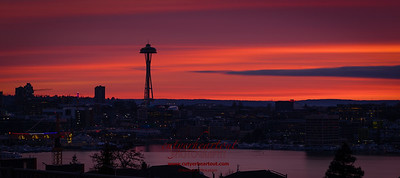 Space Needle Sunset