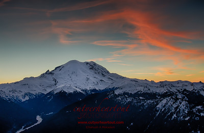 Mount Ranier, Sunset