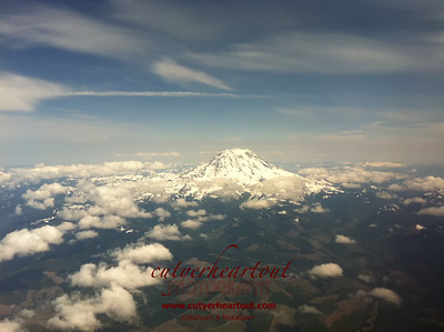 Mount Ranier From The Air