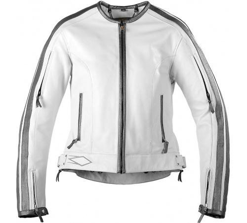 Powertrip Vintage Leather motorcycle jacket  MSRP ($329)<br /> This beautiful leather motorcycle jackets looks good on or off a bike.  <br /> <br /> White with Silver Trim <br /> Approximately 160 available in sizes xS-xL<br /> Pricing available for individual unit purchase or the whole lot.