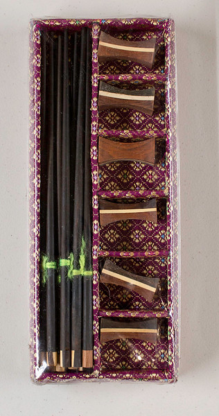 """$15 - chopsticks with case and """"holders"""""""