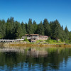 Set up for a very wide panorama 12 X 30 it comes out beautiful! This is Yes Bay Lodge about 54 miles from Ketchikan Alaska in Yes Bay! We have a print of this one hanging in our office in Ketchikan and it always gets comments - on the metallic!